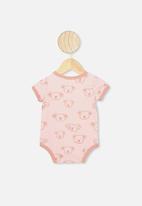 Cotton On - The short sleeve ringer bubbysuit - pink