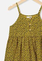 Cotton On - Mackenzie sleeveless dress - keen as mustard