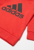 adidas Originals - Adidas hoodie -  red & black