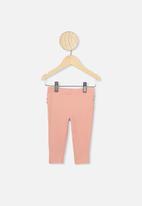 Cotton On - Quinn ruffle leggings - dusty pink