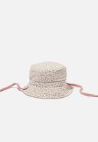 Cotton On - Reversible bucket hat - old rose daisy
