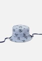 Cotton On - Reversible bucket hat - vintage navy dino