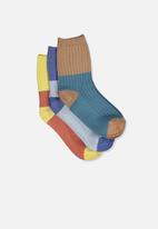 Cotton On - Kids 3 pack fashion crew socks - multi