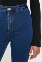 Missguided - Petite vice high waisted skinny jeans - blue