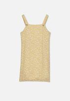 Free by Cotton On - Pini dress - yellow & white
