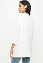 Missguided - Petite core basic blazer - white