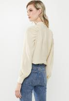 Vero Moda - Stella long sleeve top - neutral