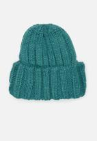 Superbalist - Turn up beanie - teal