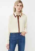 Vero Moda - Fran long sleeve shirt - neutral
