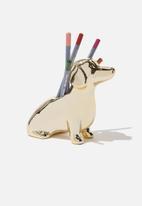 Typo - Pen holder - gold
