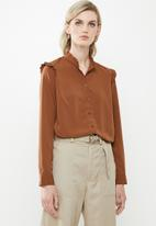 Vero Moda - Fatima long sleeve shirt - brown