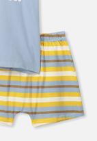 Cotton On - Hudson short sleeve pj set - multi