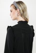 Vero Moda - Fatima long sleeve shirt - black
