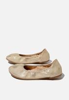 Cotton On - Primo ballet flats - matte gold shimmer