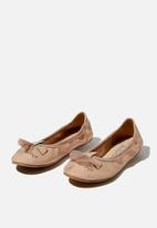 Cotton On - Primo ballet flats - matte rose gold unicorn