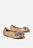 Cotton On - Primo ballet flats - metallic gold bow