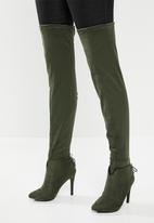 Miss Black - Over the knee boot - green