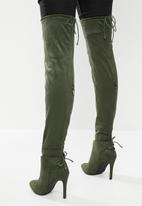 Miss Black - Belle 4 boot - green