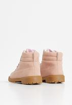 Rebel Republic - Girls lace up boots - pink