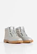 Rebel Republic - Girls lace up boots - grey