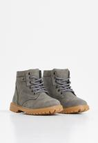 POP CANDY - Lace up boot - grey
