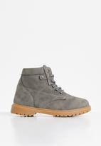 Rebel Republic - Teen boys lace up boot - grey