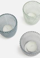 H&S - Bubble tealight holder set of 3 - multi
