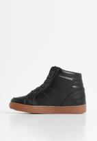 Rebel Republic - Teen boys lace hi top sneaker - black