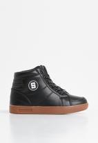 POP CANDY - Lace hi top sneaker - black