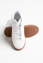 POP CANDY - Lace hi top sneaker - white