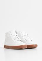 Rebel Republic - Teen boys lace hi top sneaker - white