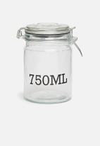 Sixth Floor - 750ml storage jar - clear