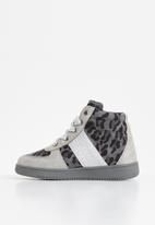 Rebel Republic - Girls combo fabric hi top - grey