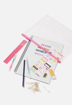 Typo - A4 stationery kit - white & pink