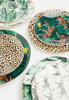 Excellent Housewares - Animal side plate set of 4 - multi