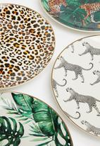 SIAKI - Animal dinner plate set of 4 - multi