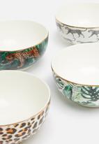 Excellent Housewares - Animal bowl set of 4 - multi