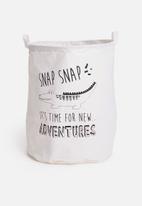 H&S - Kids laundry bag - crocodile