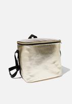 Typo - Tall cooler bag - gold