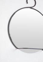 H&S - Circle bathroom mirror - black