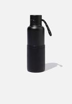 Typo - The loop metal drink bottle - black