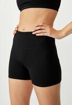 Cotton On - Highwaisted shortie short - black