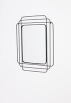 H&S - Wire mirror - black