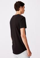 Factorie - Cities curved graphic T-shirt - black