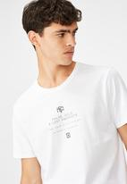 Factorie - Cross prophets curved graphic T-shirt - white