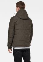 G-Star RAW - Edla multiquilt hooded jackets  - khaki