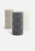 H&S - Prismatic candle - navy