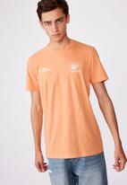 Factorie - Verified mind slim graphic t shirt - washed orange