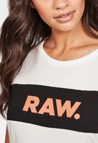 G-Star RAW - Gyre cut & sew short sleeve tee - white