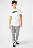 Factorie - Memes slim graphic T-shirt - white